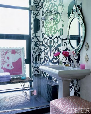 Glam Bathrooms from Elle Decor | House Of Deva